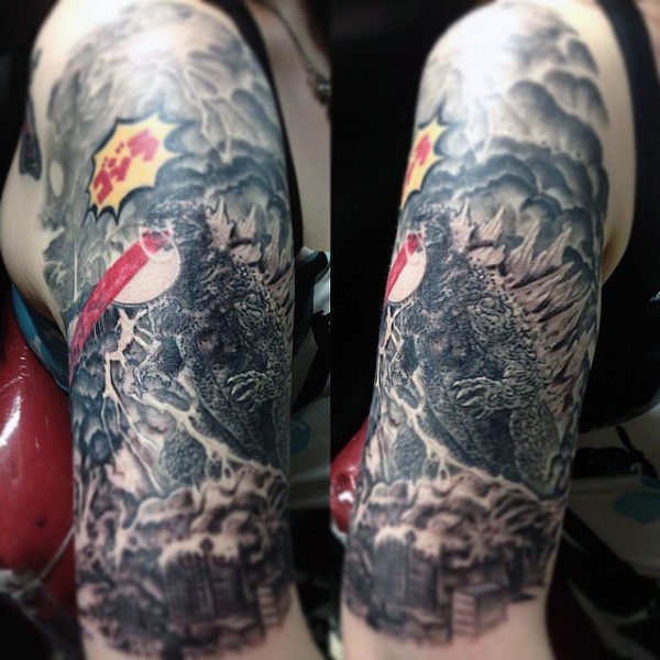 80 Godzilla Tattoo Designs für Männer - erwacht Meer Monstertinte