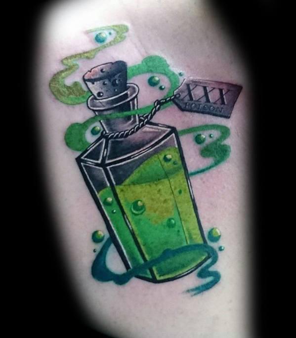 40 Giftflasche Tattoo Designs für Männer - Killer Ink Ideen