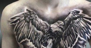 75 Eagle Tattoos für Männer - ein Segelfliegen von traditionellen Designs