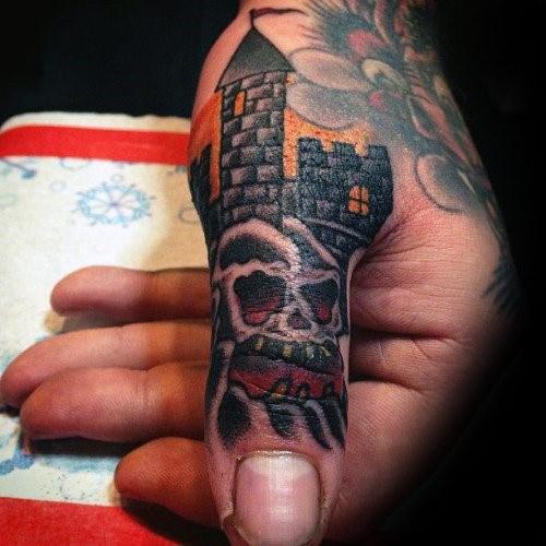 90 Daumen Tattoos für Männer - links und rechts Digit Design-Ideen
