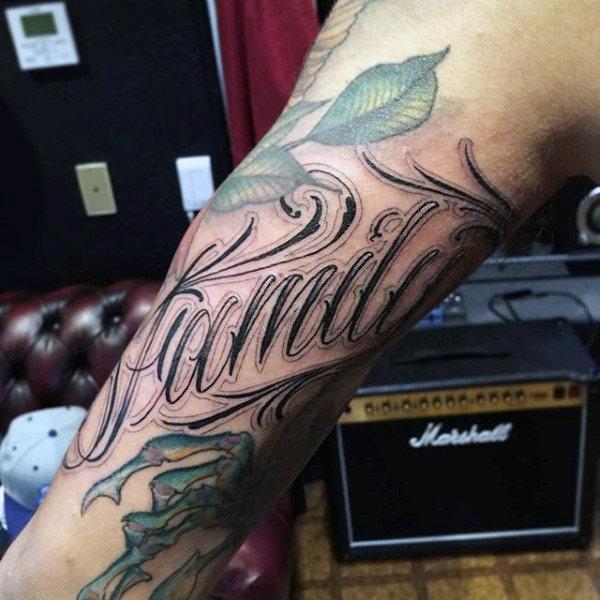 100 Familien Tattoos Für Männer Gedenktinten Design Ideen Mann