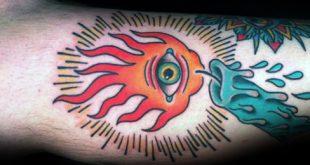 50 traditionelle Kerze Tattoo Designs für Männer - beleuchtete Tinte Ideen