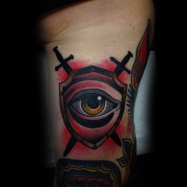 Top 70 besten Schild Tattoo Design-Ideen für Männer - Armor Body Art