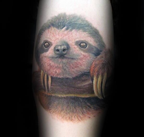 70 Sloth Tattoo Designs für Männer - Ink Ideen zum Aufhängen