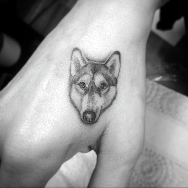 80 Siberian Husky Tattoo Designs für Männer - Hund Tinte Ideen