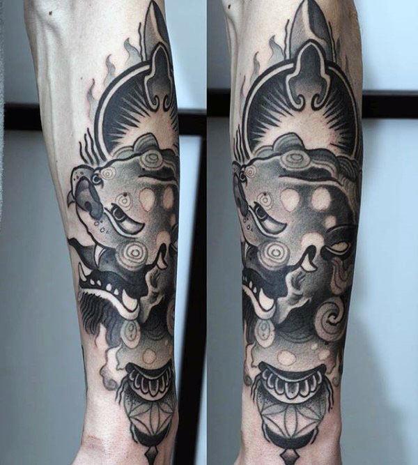 100 Foo Dog Tattoo Designs für Männer - Chinesische Gaurdian Lions