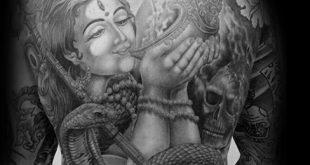40 Krishna Tattoo Designs für Männer - Hinduismus Ink Ideen