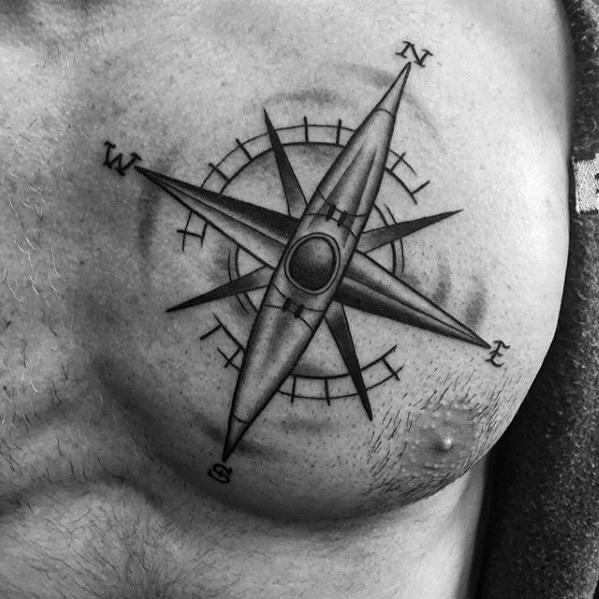 40 Kanu Tattoo Designs für Männer - Kayak Ink Ideen