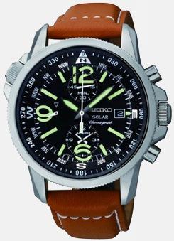 Herren Seiko Adventure-Solar Klassische Uhr
