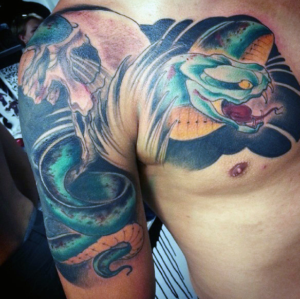 70 Schlange Tattoos für Männer - eine giftige Biss von Design Idee Inspiration