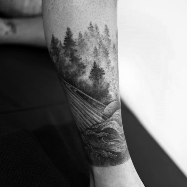 40 Tree Leg Tattoo Design-Ideen für Männer - Rooted Ink