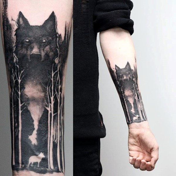 100 Forest Tattoo Designs für Männer - Masculine Tree Ink Ideen