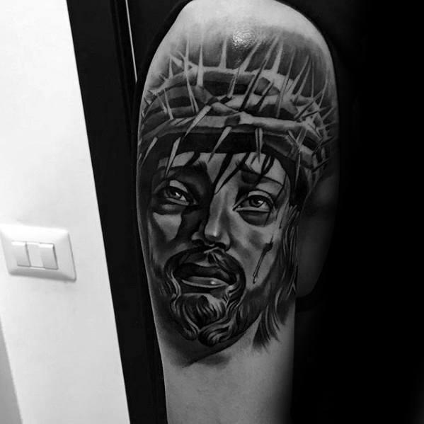 60 3D Jesus Tattoo Designs für Männer - religiöse Tinte Ideen