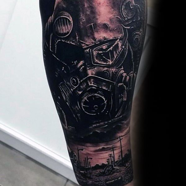70 Fallout Tattoo Designs für Männer - Videospiel-Ideen