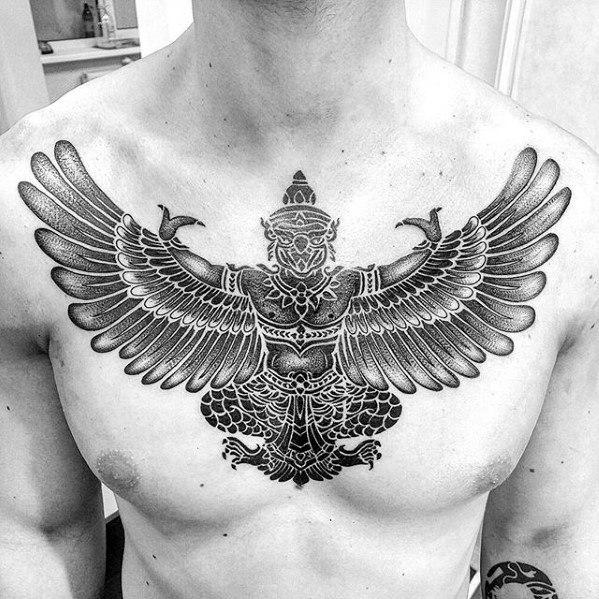 50 Garuda Tattoo Designs für Männer - Humanoid Bird Ink Ideen