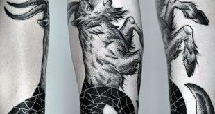 60 Steinbock-Tattoos für Männer - astrologische Tinte Design-Ideen