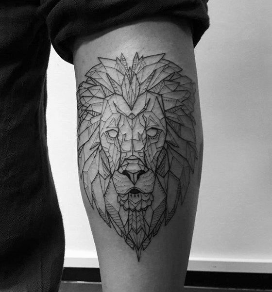 30 Lion Leg Tattoo Designs für Männer - große Katze Tinte Ideen