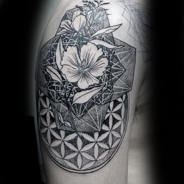 100 Dotwork Tattoo Designs für Männer - komplizierte Muster Tinte Ideen