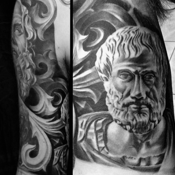 30 Sokrates Tattoo Designs für Männer - Philosopher Ink Ideen
