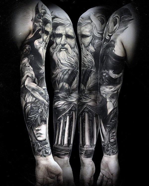 60 Odin Tattoo Designs für Männer - Norse Ink Ideen