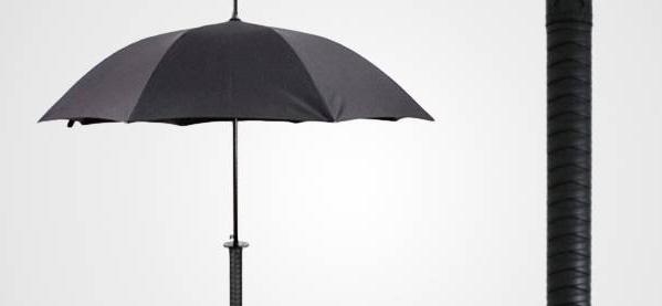 Kikkerland Samurai Schwert Regenschirm