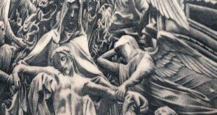 40 Jesus Zurück Tattoo Designs für Männer - religiöse Tinte Ideen