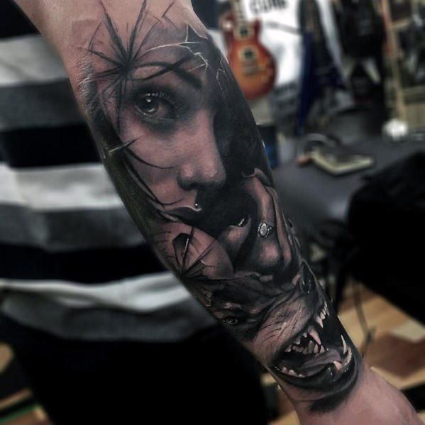 50 realistische Wolf Tattoo Designs für Männer - Canine Ink Ideen