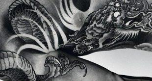 50 chinesische Drache Tattoo Designs für Männer - flammende Tinte Ideen