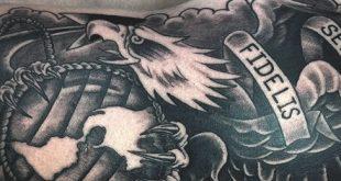 90 Marine Tattoos für Männer - Semper Fi Ink Design-Ideen