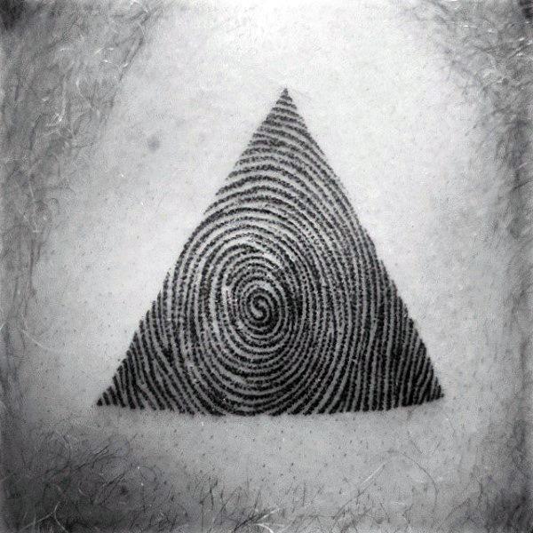 Top 40 besten Fingerabdruck Tattoos für Männer - männliche Designs