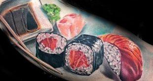 50 Sushi Tattoo Designs für Männer - japanische Food-Ideen