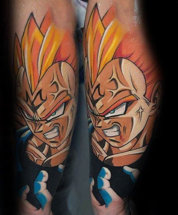 40 Vegeta Tattoo-Designs für Männer - Dragon Ball Z-Tinte Ideen
