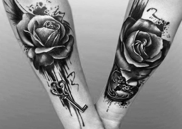 Top 100 besten passenden Paar Tattoos - Connected Design-Ideen