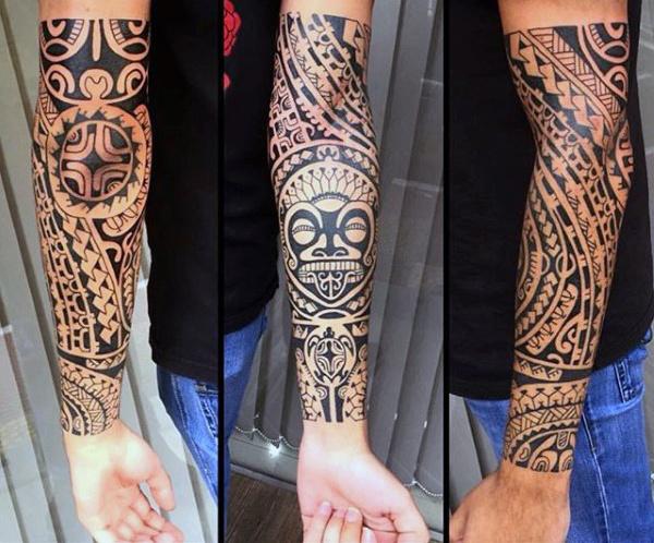60 Tribal Unterarm Tattoos für Männer - Manly Ink Design-Ideen