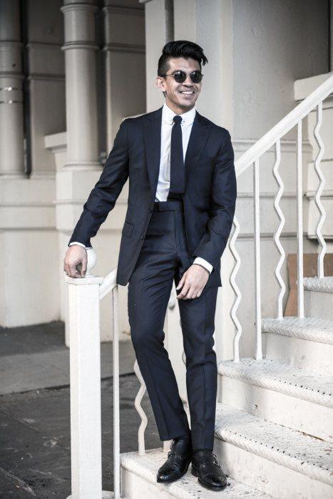 40 Navy Blue Suit Schwarz Schuhe Styles für Männer - Modische Outfits