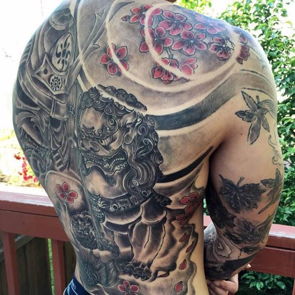 60 Samurai Helm Tattoo Designs für Männer - japanische Tinte Ideen