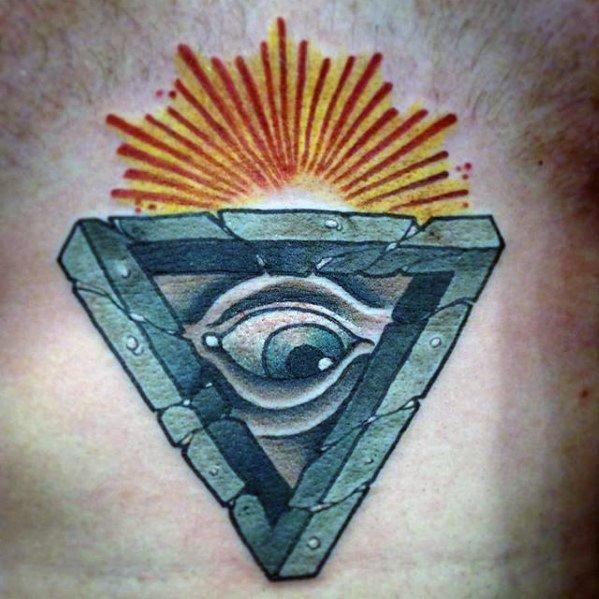 60 Penrose Triangle Tattoo Designs für Männer - Unmögliche Tribar Ideen