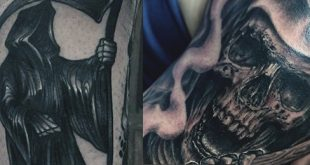 70 Sensenmann Tattoos für Männer - Händler der Tod Designs
