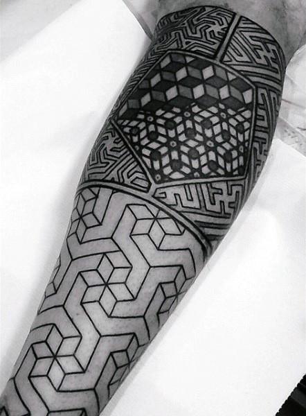 100 Heilige Geometrie Tattoo Designs für Männer - Der Bauplan der Natur
