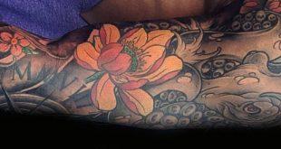 100 Lotus Flower Tattoo Designs für Männer - Cool Ink Ideas