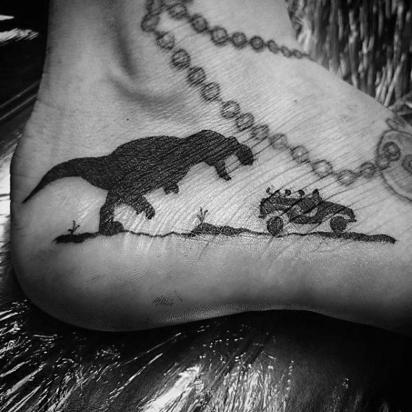 50 Jurassic Park Tattoo Designs für Männer - Dinosaurier-Tinten-Ideen