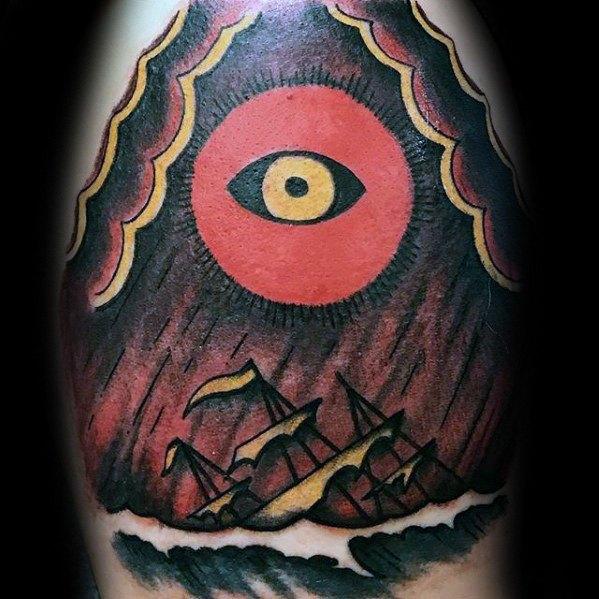 30 Shipwreck Tattoo Designs für Männer - versunkene Tinte Ideen