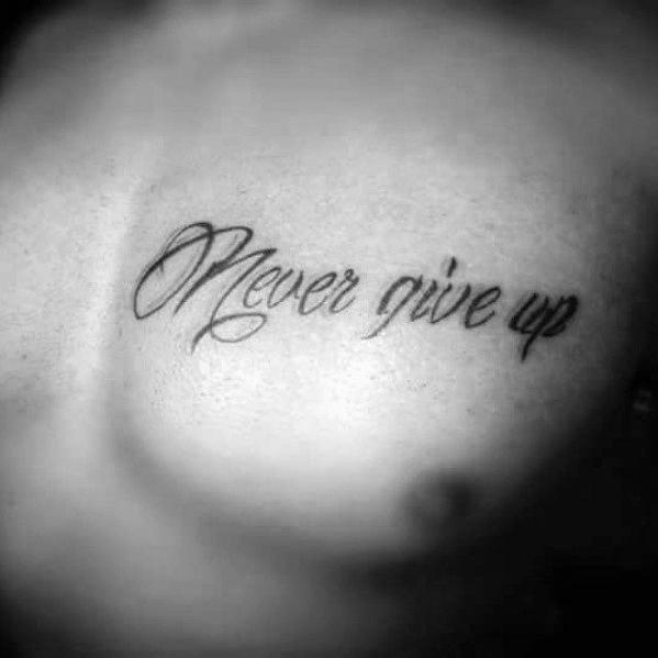 nie aufgeben tattoo