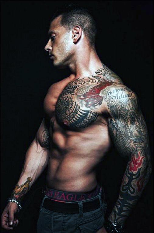 Top 90 besten Brust Tattoos für Männer - Colossal Canvas Ideen und Designs