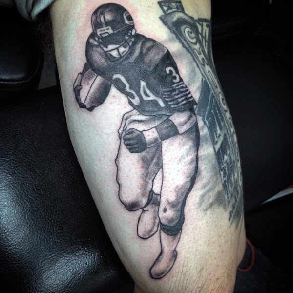 70 Fußball Tattoos für Männer - NFL Ink Design-Ideen