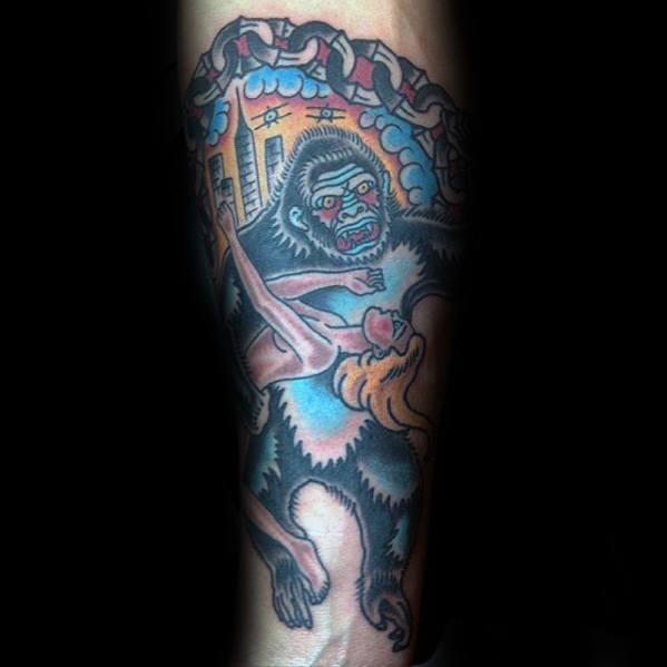 50 King Kong Tattoo Designs für Männer - Furious Gorilla Ink Ideen